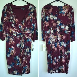 Adrianna Papell Women Dress Floral Wrap Size 16W